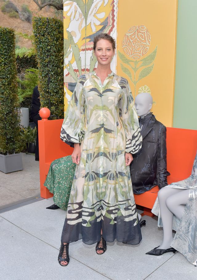 WHO: Christy Turlington Burns WHAT: Attending H&M's Conscious Exclusive Collection launch event.  WEAR: H&M's Conscious Exclusive Collection.