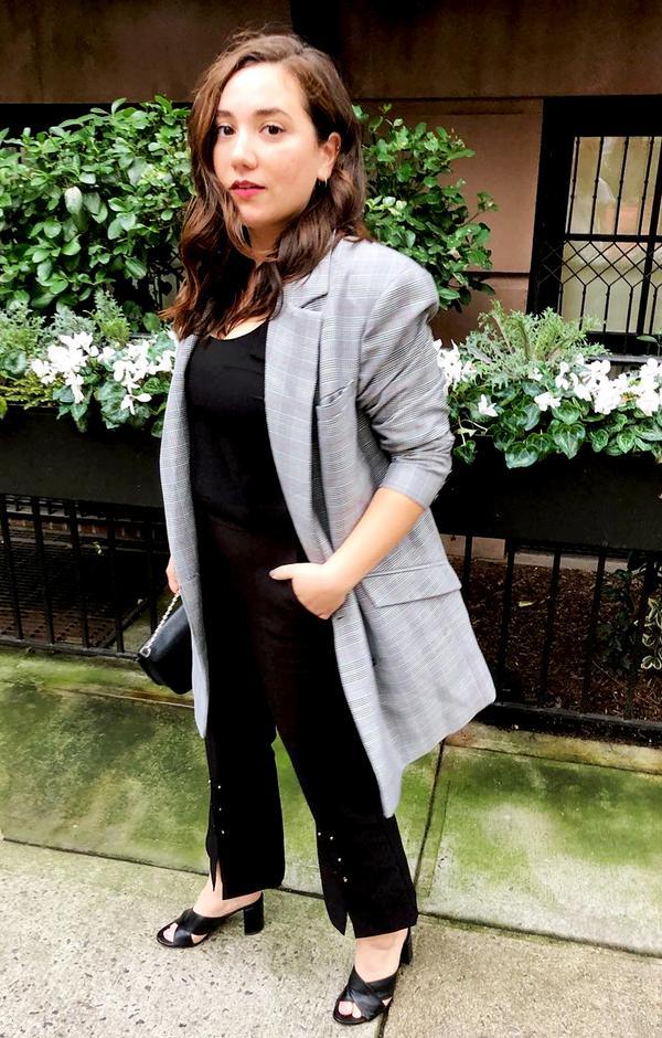 plaid blazers street style trend