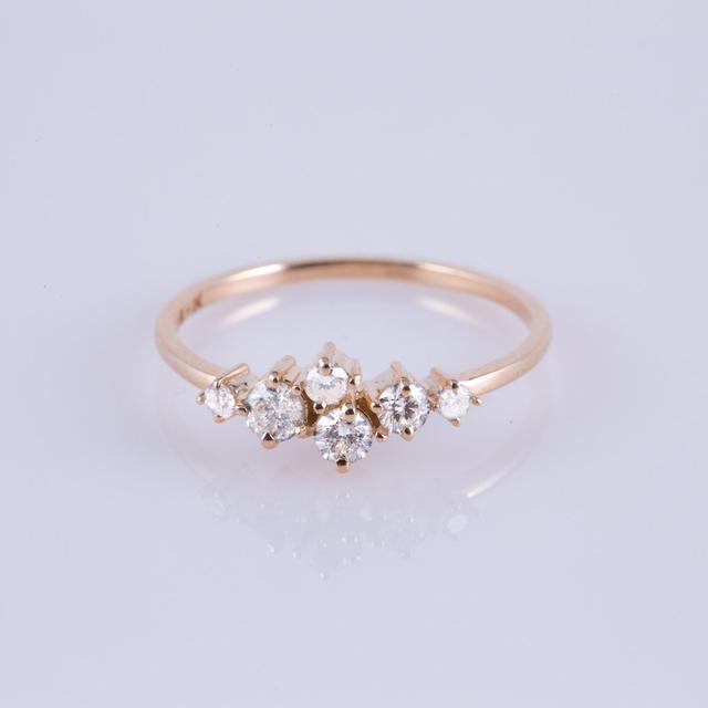 Carried Jewels Gold Diamond Sleeping Beauty Band