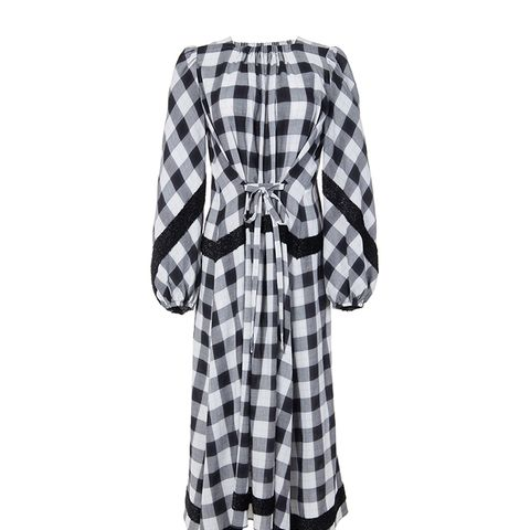 Plaid Tie Front Dress With Lurex Detail