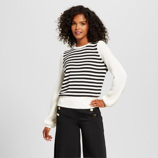 Cozy Striped Crew Sweater