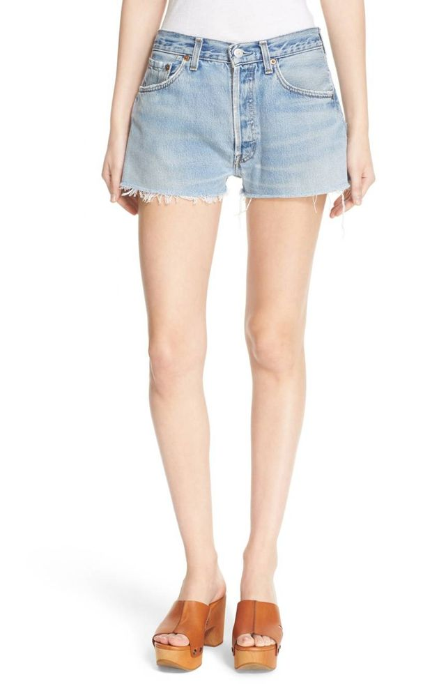 Women's Re/done 'The Short' Reconstructed Denim Shorts