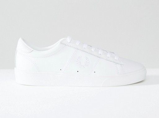 White Spencer Leather Sneakers