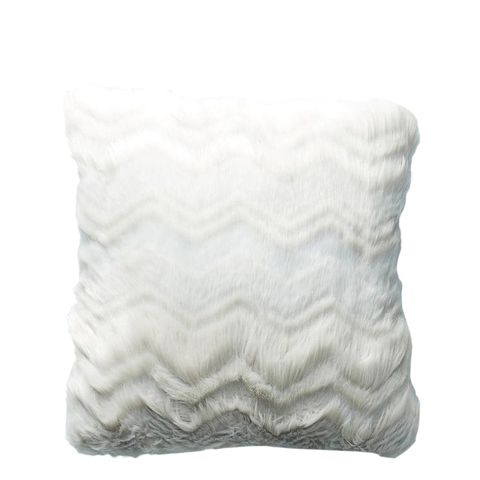 Chevron Faux Fur Pillow