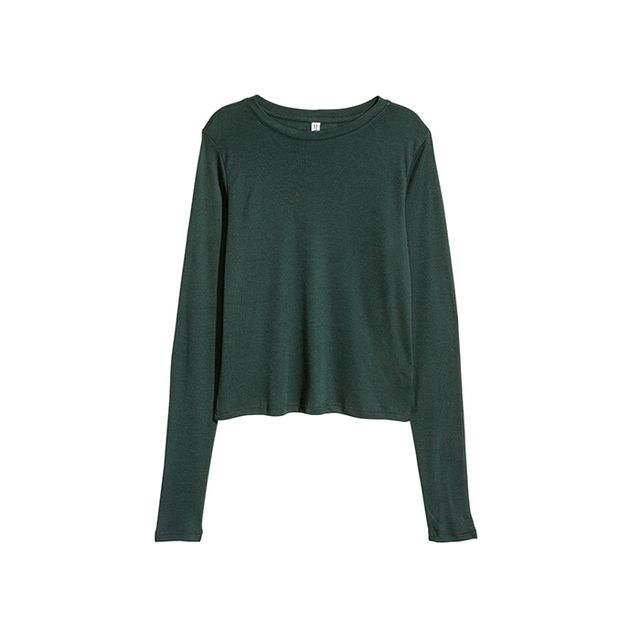 H&M Ribbed Jersey Top