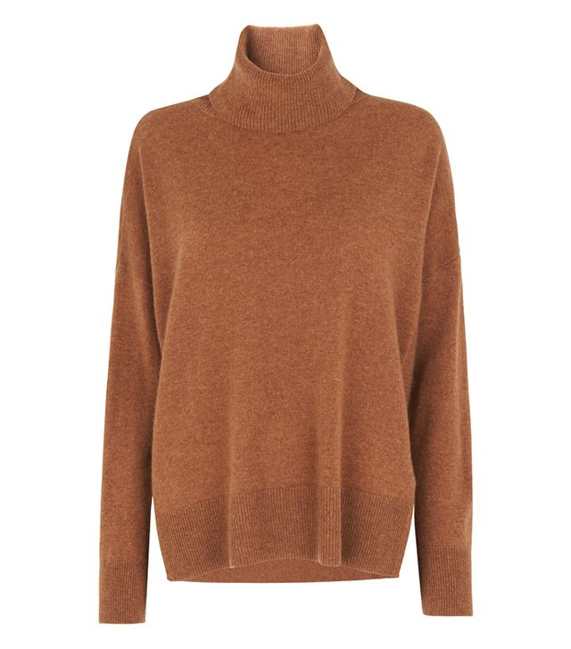 Whistles Gift guide: Tan cashmere jumper