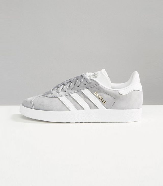 adidas Originals Gray Gazelle Sneakers With Snake Effect Trim