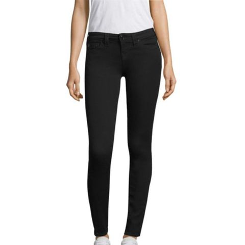 Halle Mid Rise Super Skinny Jeans