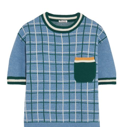 Checked Wool Sweater
