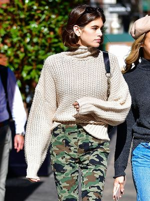 Kaia Gerber Is Already Wearing H&M's Coolest $20 Sweater
