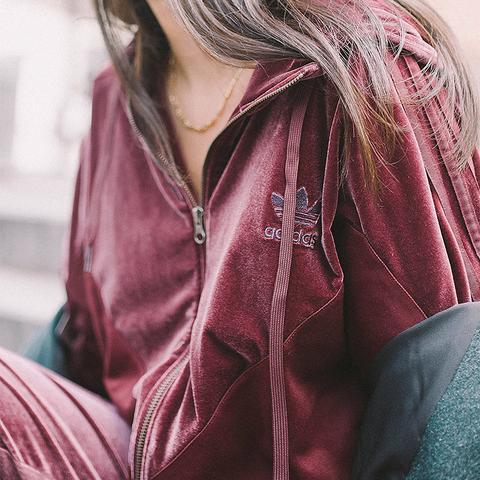 Velvet Hoodie Track Jacket