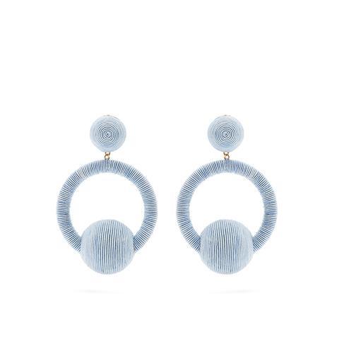 Claudia Hoop-Drop Earrings