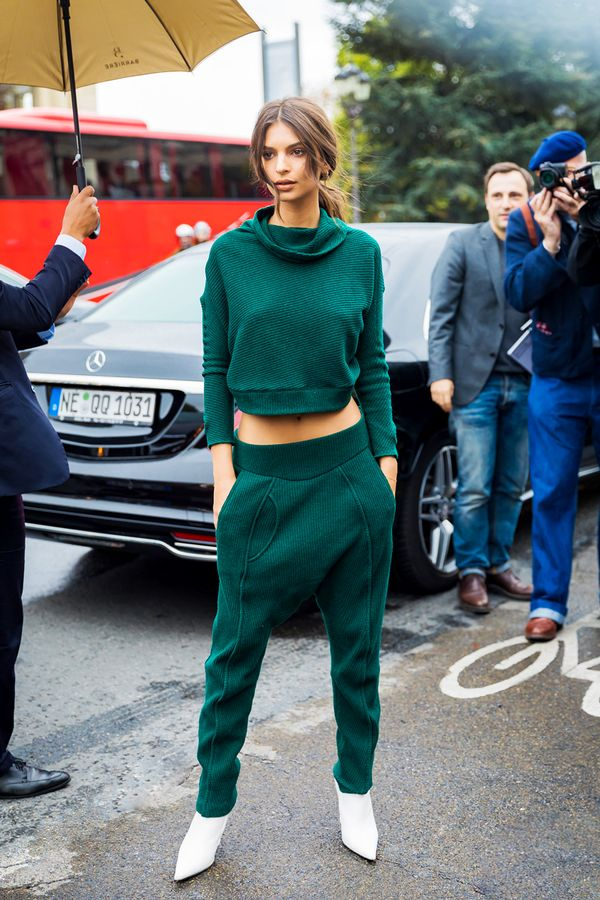 try an olive green outfit