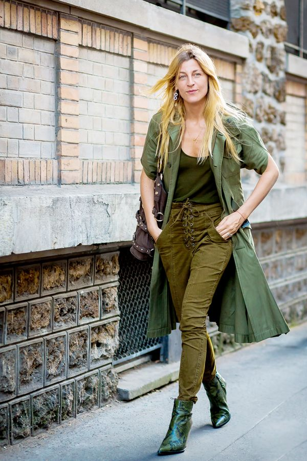 14 ways to wear olive green in all your fall outfits