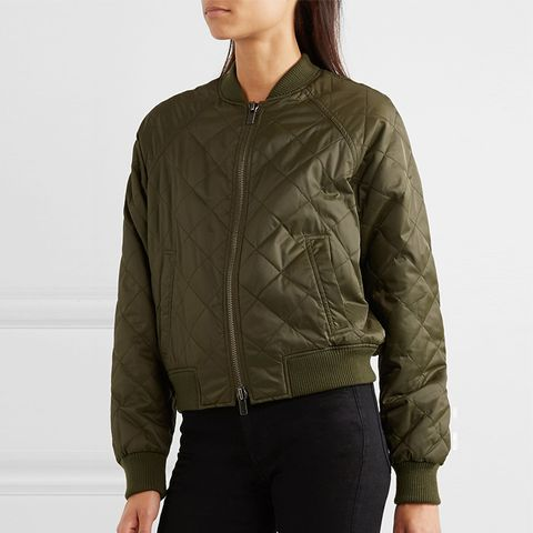 Quilted Shell Bomber Jacket