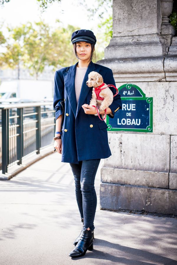 Just add a newsboy cap (puppy optional).