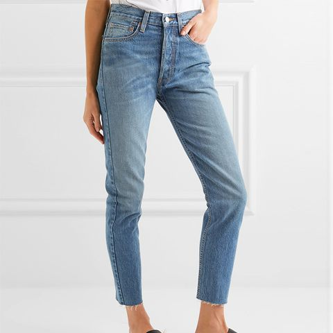 Originals High-Rise Ankle Crop Slim-Leg Jeans