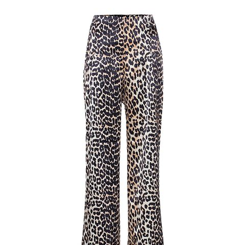 Dufort Leopard-Printed Silk Trousers
