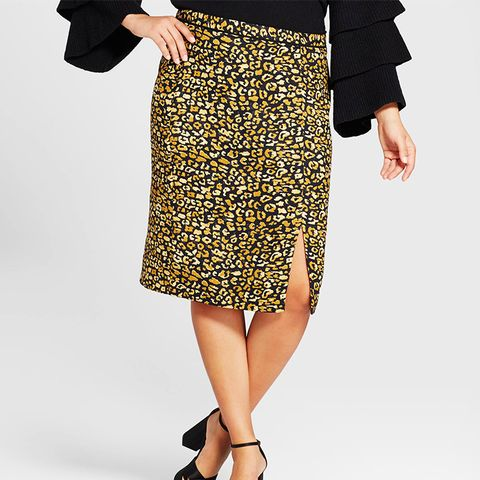 Print Mix Pencil Skirt