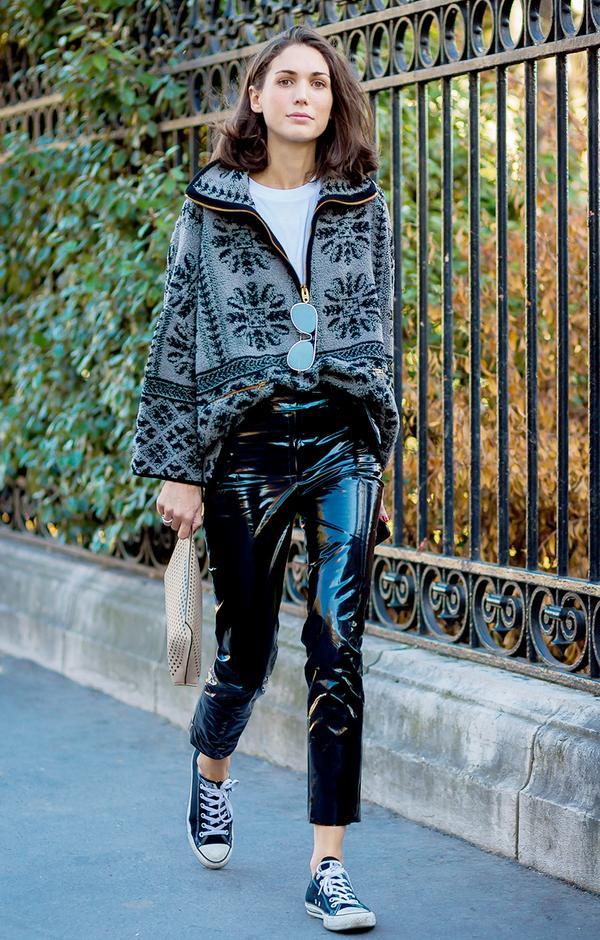 pvc pants outfit