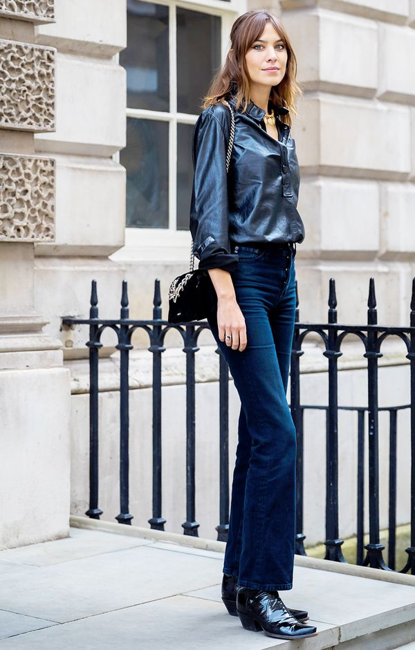 alexa chung jeans outfit