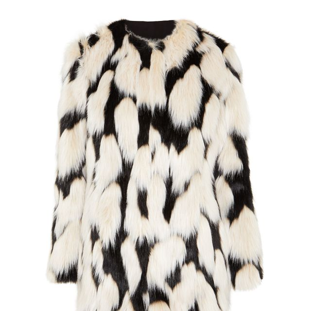 Matalan green fur coat