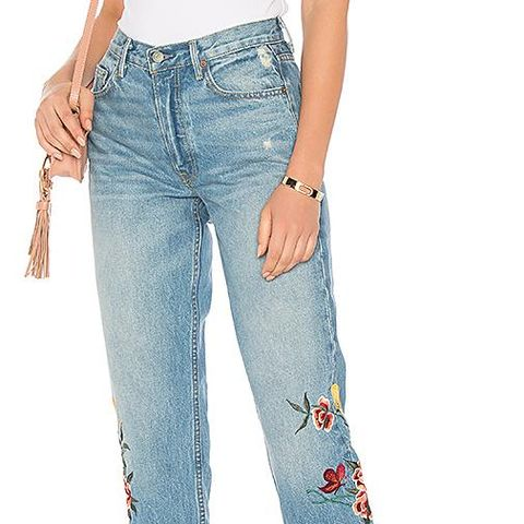 Helena High-Rise Embroidered Crop Jeans