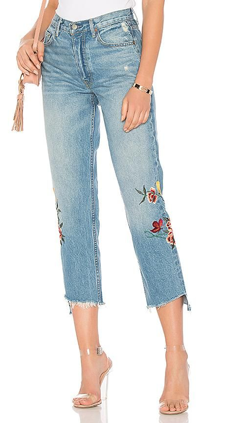 Helena High-Rise Embroidered Crop Jean. - size 27 (also in 23,24,25,26,28,29,30)