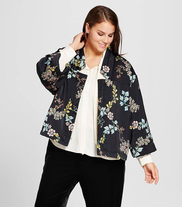 Plus Size Quilted Kimono Jacket