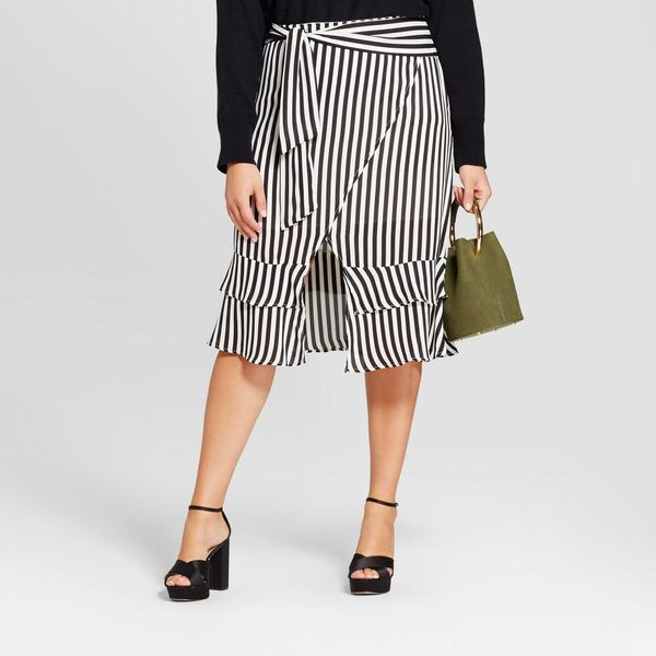 Plus Size Tie Waist Skirt
