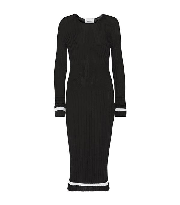 Ribbed Stretch-knit Midi Dress