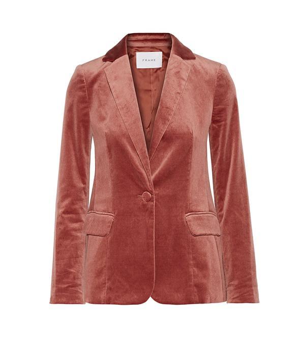 Classic Cotton-blend Velvet Blazer
