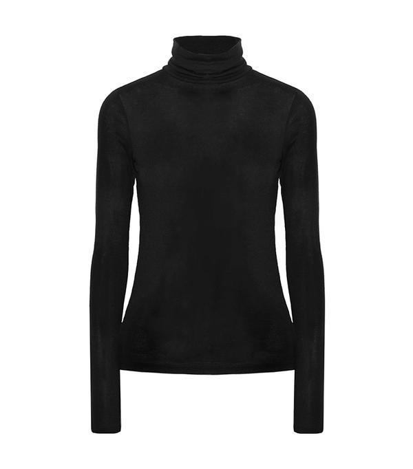 Ribbed Modal-blend Turtleneck Sweater