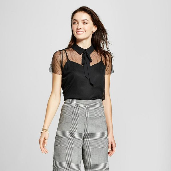 Women's Short Sleeve Bow Blouse - Who What Wear™