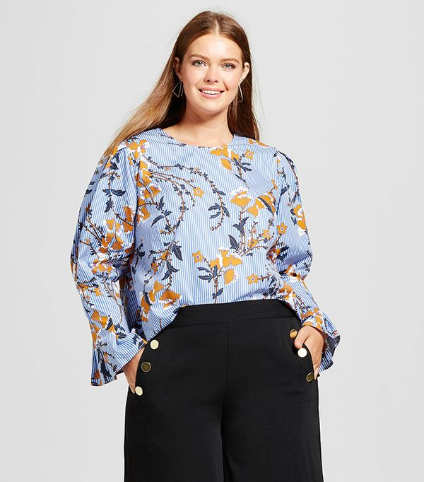 Plus Size Bubble Sleeve Shirt