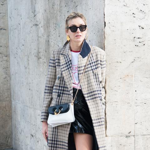 parisian style: Camille Charrière in mini skirt