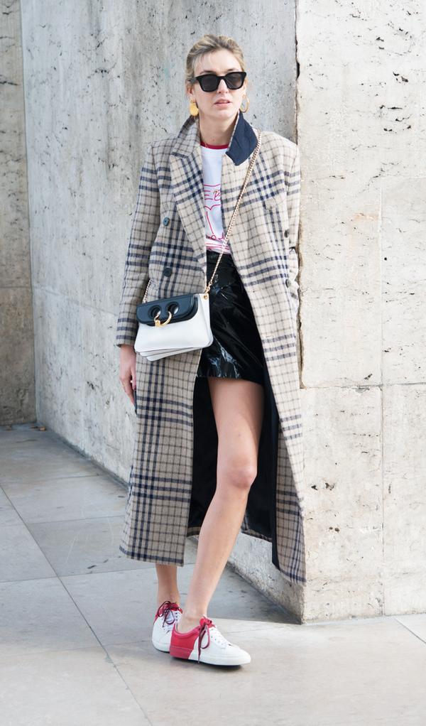parisian style: Camille Charrière in mini skirtparis style: