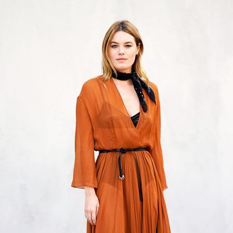 parisian style: Camille Rowe at Paris Fashion Week