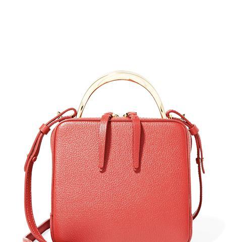 Cube Mini Textured-Leather Shoulder Bag