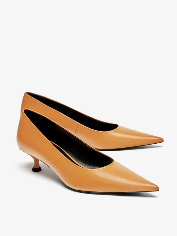 Zara Leather Pointed Court Shoes