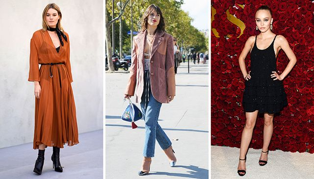 parisian style: camille rowe, jeanne damas lily rose depp