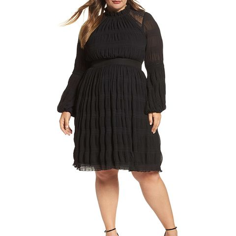 Lace-Back Skater Dress