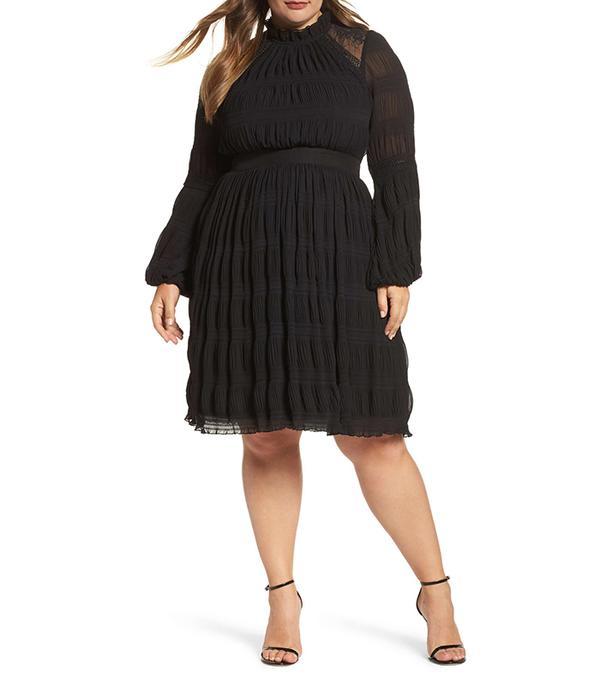 Plus Size Women's Lost Ink Lace Back Skater Dress