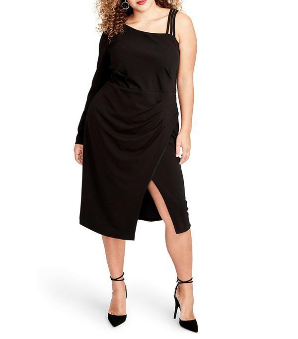 Plus Size Women's Rachel Rachel Roy Asymmetrical Faux Wrap Dress