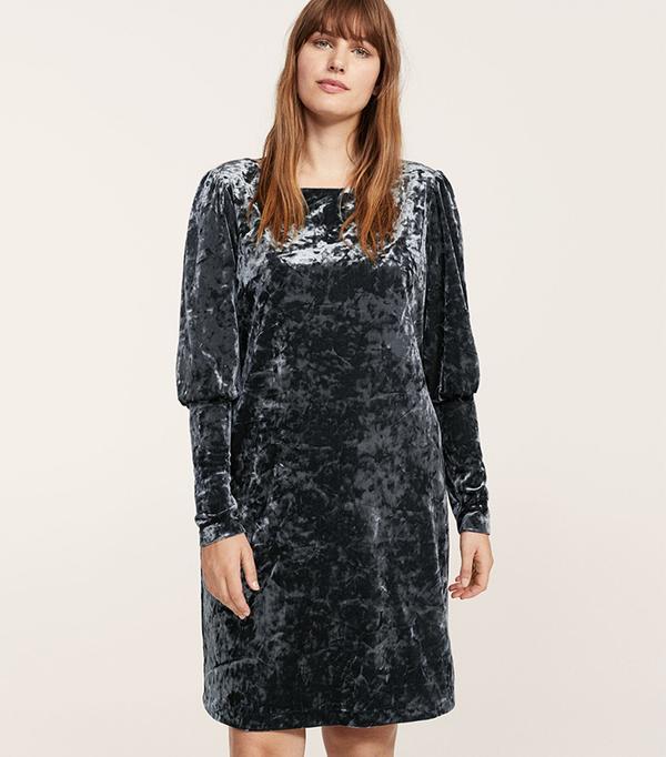 Flowy velvet dress
