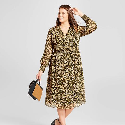 Plus-Size Smocked-Waist Dress