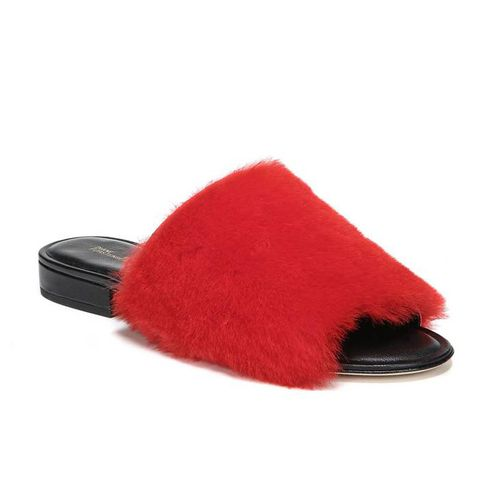 Santi Genuine Shearling Slide Sandals