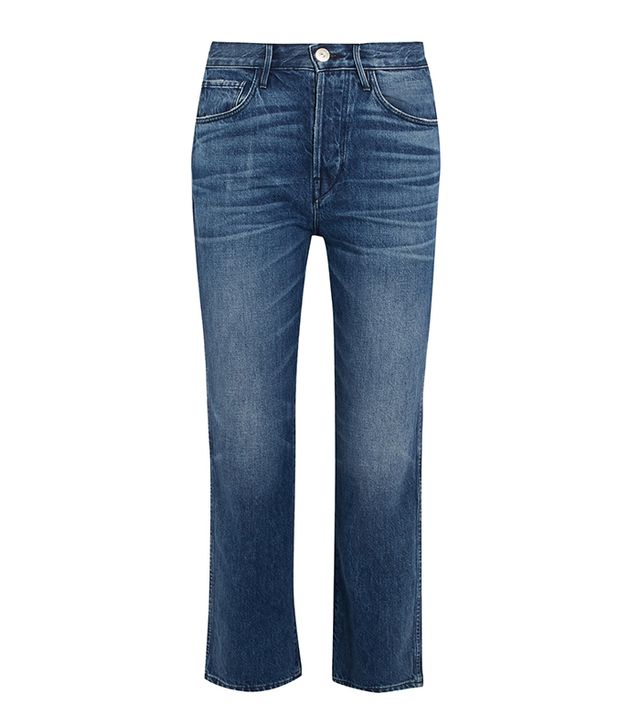 W4 Shelter Austin Cropped High-rise Straight-leg Jeans