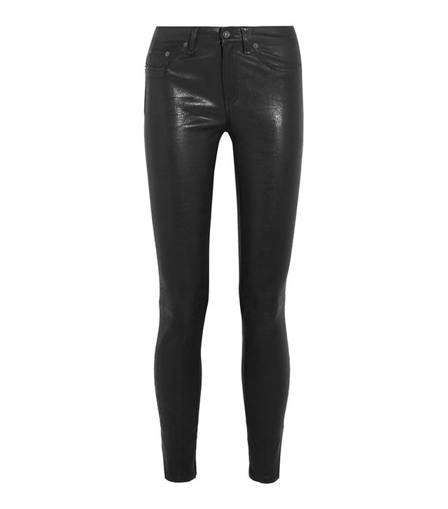 how to wear the wolford estelle faux leather legging