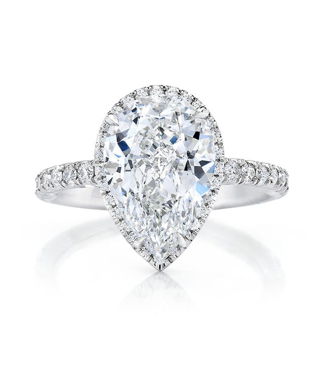 pear halo shop ring concierge pear halo engagement - Popular Wedding Rings